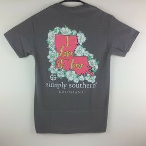 Simply Southern Preppy Louisiana State T-Shirt